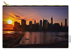 New York Skyline Sunset -- From Brooklyn Heights Promenade Carry-all Pouch