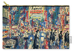 New York Times Square - Watercolor Carry-all Pouch