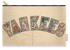 New York Yankees Poster Art Carry-all Pouch by Florian Rodarte