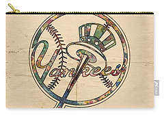 New York Yankees Poster Vintage Carry-all Pouch by Florian Rodarte