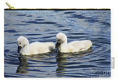 Newborn Mute Swans Carry-all Pouch by Alyce Taylor