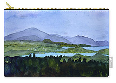 Carry-all Pouch featuring the painting Newport From Brownington Lookout by Donna Walsh