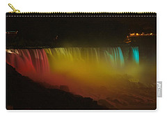 Carry-all Pouch featuring the photograph Niagara Falls A Glow by Dave Files