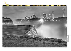 Niagara Falls Black And White Starbursts Carry-all Pouch by Adam Jewell