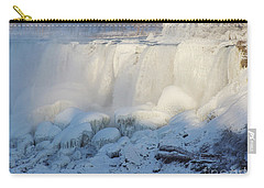 Carry-all Pouch featuring the photograph Niagara Falls In Winter by Phil Banks