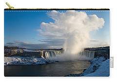 Niagara Falls Makes Its Own Weather Carry-all Pouch by Georgia Mizuleva