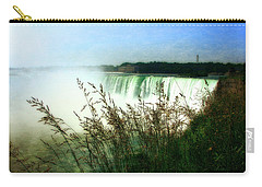 Niagara Falls With Grasses Carry-all Pouch by Michelle Calkins