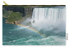 Niagara Falls With Rainbow Vertical Carry-all Pouch