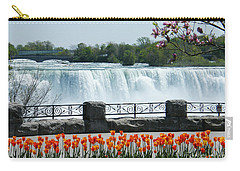 Carry-all Pouch featuring the photograph Niagara - Springtime Tulips by Phil Banks