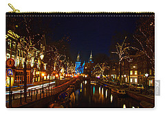 Nieuwe Spieglestraat At Night Carry-all Pouch by Jonah  Anderson