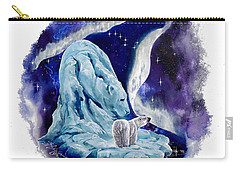 Carry-all Pouch featuring the painting Night Bear by Sherry Shipley