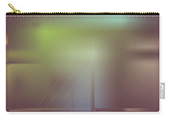 Carry-all Pouch featuring the digital art Night Bridge by Kevin McLaughlin