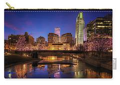 Night Cityscape - Omaha - Nebraska Carry-all Pouch by Nikolyn McDonald