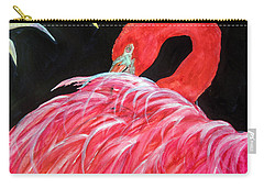 Night Flamingo Carry-all Pouch by Lil Taylor