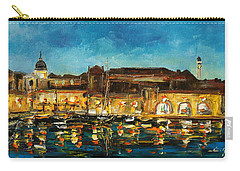 Night In Dubrovnik Harbour Carry-all Pouch