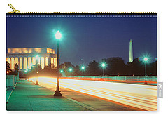 Night, Lincoln Memorial, District Of Carry-all Pouch by Panoramic Images