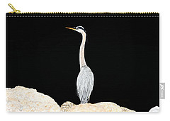 Night Of The Blue Heron  Carry-all Pouch