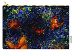 Carry-all Pouch featuring the digital art Night Of The Butterflies by Olga Hamilton