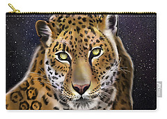 Carry-all Pouch featuring the painting Fourth Of The Big Cat Series - Leopard by Thomas J Herring