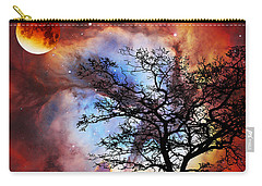 Night Sky Landscape Art By Sharon Cummings Carry-all Pouch by Sharon Cummings