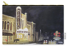 Night Time At Michigan Theater - Ann Arbor Mi Carry-all Pouch