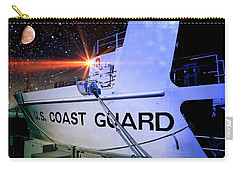 Carry-all Pouch featuring the photograph Night Watch Us Coast Guard by Aaron Berg