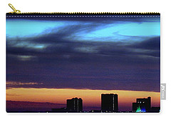 Carry-all Pouch featuring the photograph Nightfall Over Pensacola Beach by Faith Williams