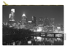 Carry-all Pouch featuring the photograph Nighttime In Philadelphia by Alice Gipson