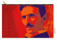 Nikola Tesla #1 Carry-all Pouch by Jean luc Comperat