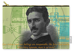 Nikola Tesla #3 Carry-all Pouch by Jean luc Comperat