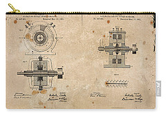 Nikola Tesla's Alternating Current Generator Patent 1891 Carry-all Pouch