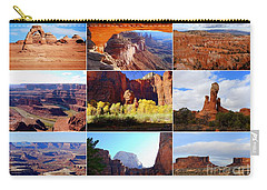 Nine Utah Landmarks Carry-all Pouch