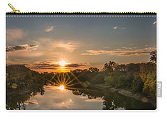 Mississippi Sunset Double Starburst Carry-all Pouch