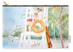Carry-all Pouch featuring the painting No Problem In Jamaica Mon by Marilyn Zalatan