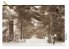 No Trespassing - Sepia Carry-all Pouch