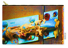 Carry-all Pouch featuring the photograph No Trespassing by Christiane Hellner-obrien