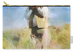 Carry-all Pouch featuring the painting No Useless Cares by Greg Collins