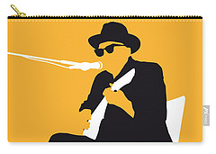No054 My Johnny Lee Hooker Minimal Music Poster Carry-all Pouch by Chungkong Art