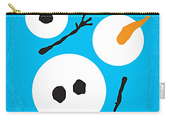 No396 My Frozen Minimal Movie Poster Carry-all Pouch by Chungkong Art