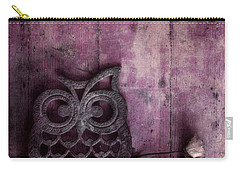 Nocturnal In Pink Carry-all Pouch by Priska Wettstein
