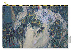 Carry-all Pouch featuring the painting Nola's Unicorn by Avonelle Kelsey