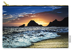 Norcal Sunset On Jenner Beach Carry-all Pouch