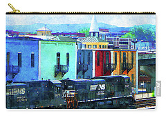 Norfolk Southern 8324 And 8676 Locomotives Carry-all Pouch by Susan Savad