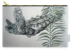 Carry-all Pouch featuring the drawing Norman Blue by Mayhem Mediums