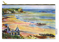 Normandy Beach Carry-all Pouch by John D Benson