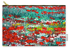 Normandy Poppy Field Dreams I Carry-all Pouch
