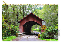 North Fork Yachats Covered Bridge Carry-all Pouch