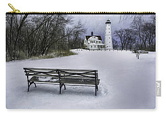 North Point Lighthouse And Bench Carry-all Pouch by Scott Norris