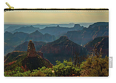 Carry-all Pouch featuring the photograph North Rim Grand Canyon Imperial Point by Bob and Nadine Johnston