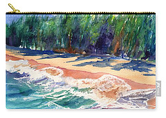 Carry-all Pouch featuring the painting North Shore Beach 2 by Marionette Taboniar